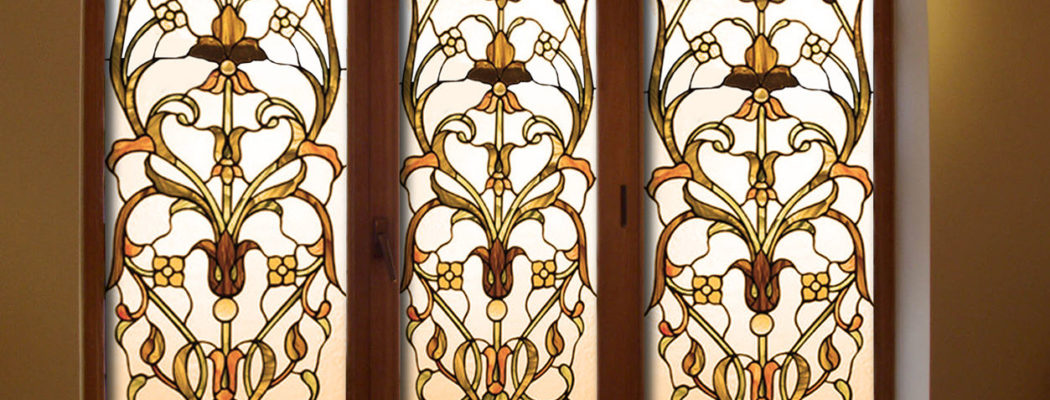Витражные декоративные плёнки на окна в Симферополе