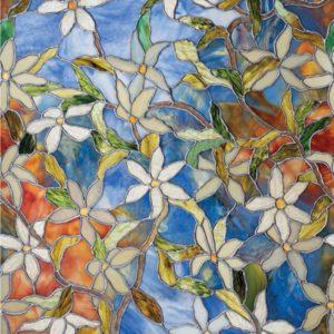 Витражная плёнка в Симферополе, пример 2 (цветы)