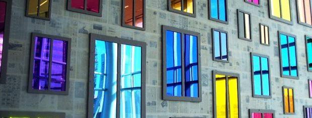 Зеркальные декоративные плёнки на окна в Симферополе