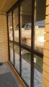 Пример оклейки окон зеркальной плёнкой в Симферополе, ул. Авиационная
